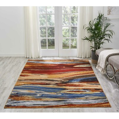 Aikin Lava Flow Area Rug Rug Size: Rectangle 86 x 116