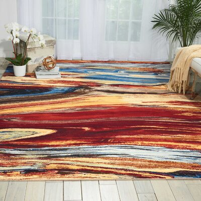 Ostby Lava Flow Area Rug Rug Size: Rectangle 79 x 99