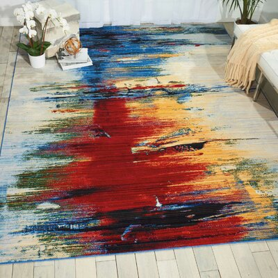 Ostby Crimson Tide Area Rug Rug Size: Rectangle 7'9