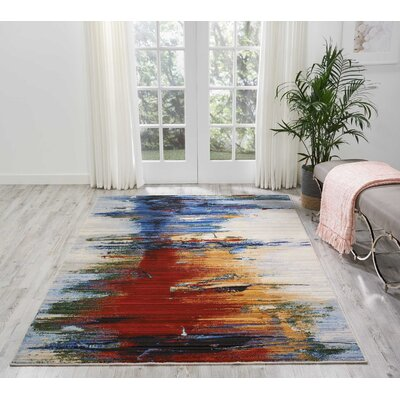 Ostby Crimson Tide Area Rug Rug Size: Rectangle 56 x 8