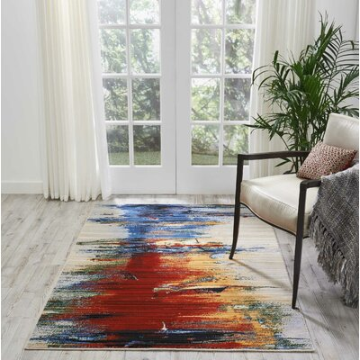 Ostby Crimson Tide Area Rug Rug Size: Rectangle 4 x 6