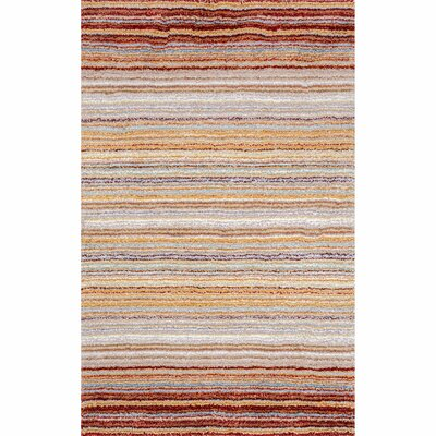 Weeden Hand-Tufted Red/Brown Area Rug Rug Size: Rectangle 5 x 8