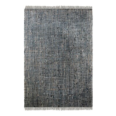 Dartmouth Hand-Woven Charcoal Area Rug Rug Size: 9 x 12