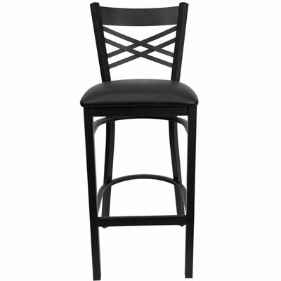 Buster 31 Bar Stool Upholstery: Black