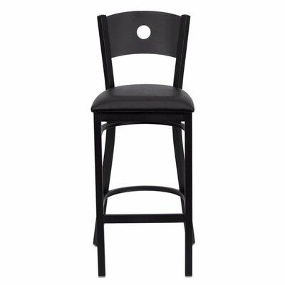 Buster 31 Bar Stool Upholstery: Black