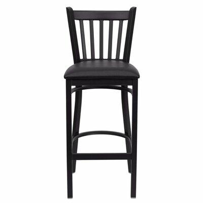 Buster 30 Bar Stool Upholstery: Black