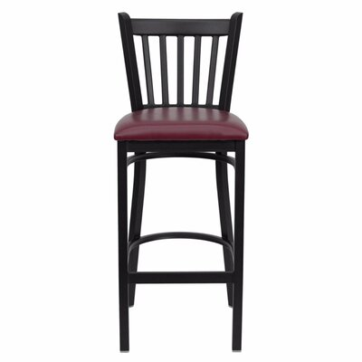 Buster 30 Bar Stool Upholstery: Burgundy