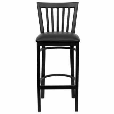 Buster 29 Bar Stool Upholstery: Black