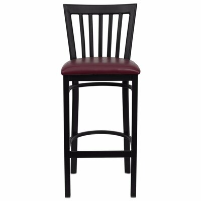 Buster 29 Bar Stool Upholstery: Burgundy
