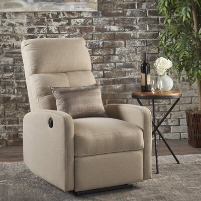 Yinka Push Back Recliner Upholstery: Wheat