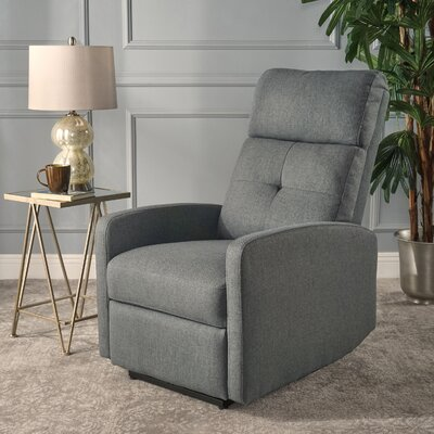 Yinka Push Back Recliner Upholstery: Charcoal
