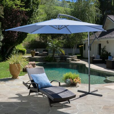 Image of 10' Cantilever Umbrella Color: Lavender Blue