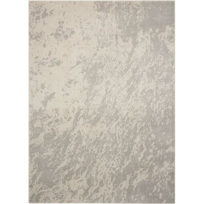 Anegada Ivory/Gray Area Rug Rug Size: Rectangle 93 x 129