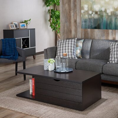 Leesport Transitional Coffee Table with Magazine Rack