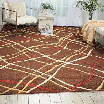 Minnie Brown Area Rug Rug Size: Rectangle 53 x 75