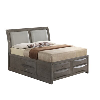Medford Storage Upholstered Platform Bed Size: Twin, Color: Gray