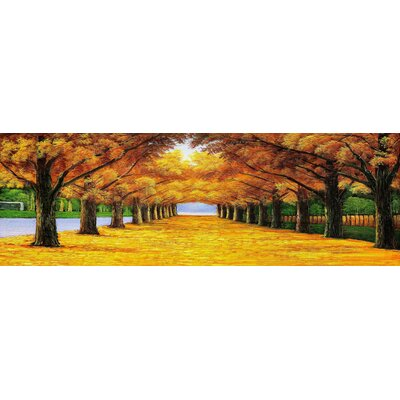 'Golden Trees' Photographic Print on Wrapped Canvas