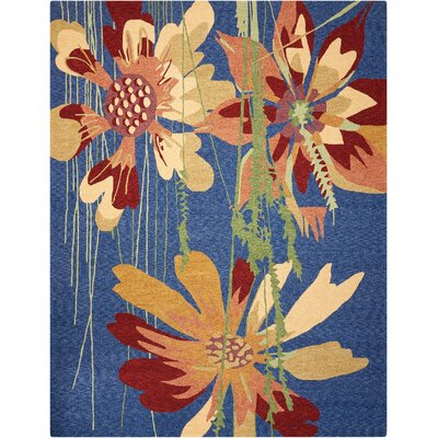 Vanetta Hand-Hooked Blue/Brown Indoor/Outdoor Area Rug Rug Size: Rectangle 8' x 10'6
