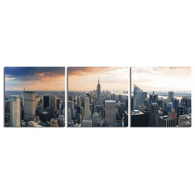 'Sunny Day NYC' Photographic Print Multi-Piece Image on Wrapped Canvas