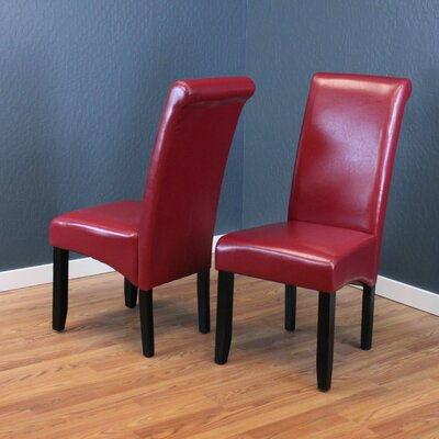 Darrell Parsons Chair Upholstery: Red