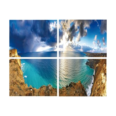 'Cliff View' Photographic Print Multi-Piece Image on Wrapped Canvas