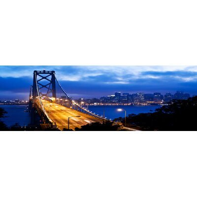 'San Francisco Oakland By Bridge' Photographic Print on Wrapped Canvas Size: 20