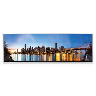 'Golden City' Framed Photographic Print on Wrapped Canvas