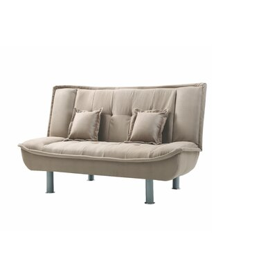 Hollymead Sleeper Convertible Loveseat Upholstery: Mocha