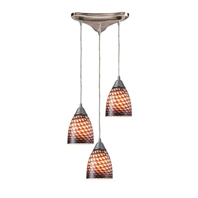 Rena 3-Light Pendant Glass Type: Coco