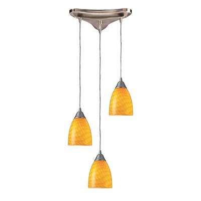Rena 3-Light Pendant Glass Type: Canary