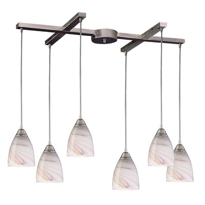 Frostia 6-Light Pendant Glass Type: Creme