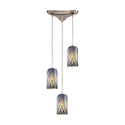 Oakridge 3-Light Pendant Glass Type: Molten Ocean