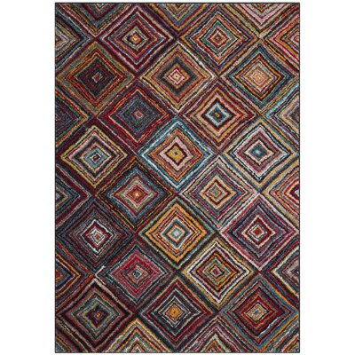 Miley Red/Blue/Orange Area Rug Rug Size: Rectangle 8 x 10