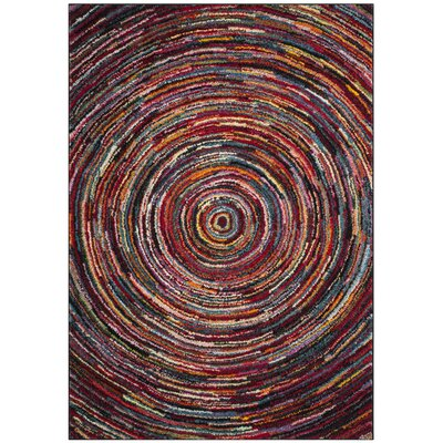 Miley Red/Green/Yellow Area Rug Rug Size: Rectangle 8 x 10