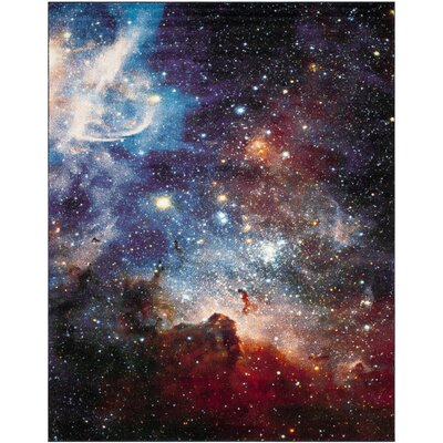 Fernando Purple/Black Area Rug Rug Size: Rectangle 8 x 10