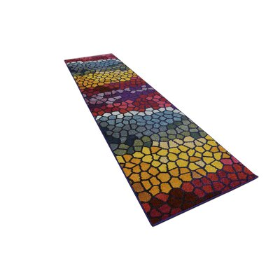 Oldsmar Pink/Yellow Area Rug Rug Size: Runner 2'2