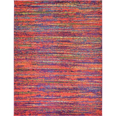 Lilian Red Area Rug Rug Size: Rectangle 5 x 8