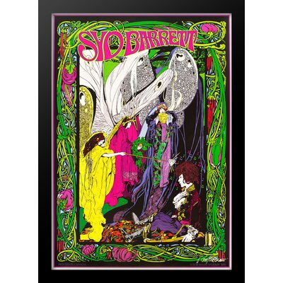 'Syd Barrett' Framed Vintage Advertisement Poster Green/Yellow