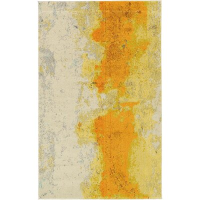 Tavistock Yellow Area Rug Rug Size: Runner 22 x 67