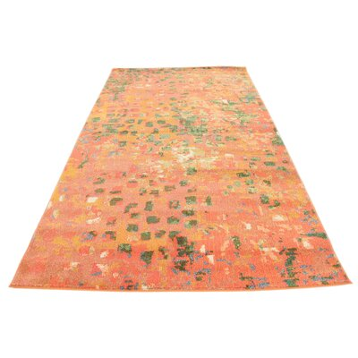 Lilia Orange Area Rug Rug Size: Rectangle 9 x 12