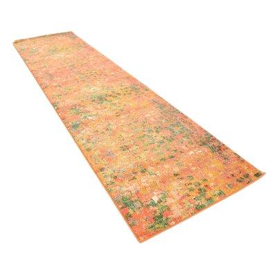 Lilia Orange Area Rug Rug Size: Runner 27 x 10