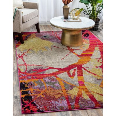 Oldsmar Red Area Rug Rug Size: Rectangle 7 x 10