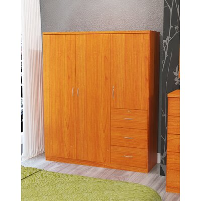 Randolf 3 Door Armoire Finish: Light Cherry