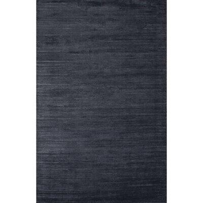 Nico Wool and Art Silk Solids/Handloom Moonlight Blue Area Rug Rug Size: 2 x 3