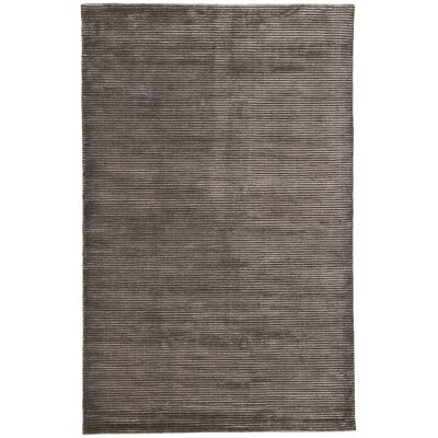 Nico Wool and Art Silk Solids/Handloom Black Area Rug Rug Size: 2 x 3
