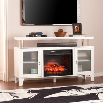 Kastel Media Infrared Electric Fireplace Finish: White