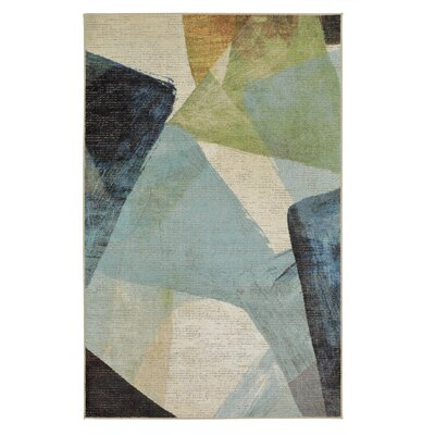 Antilles Transparent Blue/Gray Area Rug Rug Size: Rectangle 76 x 10