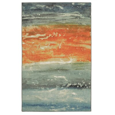 Antilles Seascape Blue/Orange Area Rug Rug Size: Rectangle 76 x 10