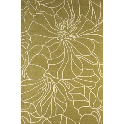 Gina Hand-Tufted Pear/Ivory Area Rug Rug Size: Rectangle 5 x 8