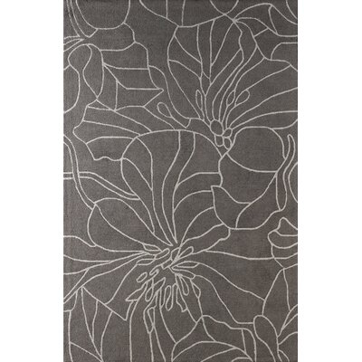 Gina Hand-Tufted Steel Area Rug Rug Size: Rectangle 5 x 8